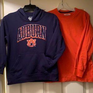Auburn University Boys Russell Navy Sweatshirt set